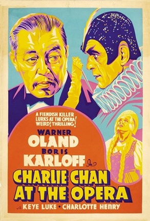 Framed Charlie Chan at the Opera Print