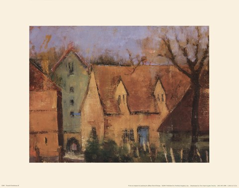 Framed French Farmhouse II Print