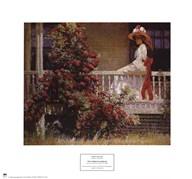 Philip leslie Hale - The Crimson Rambler  Fine Art Print