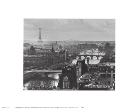 Framed River Seine and the City of Paris Print