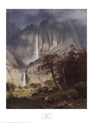Framed Cho-Looke, The Yosemite Fall, 1864 Print
