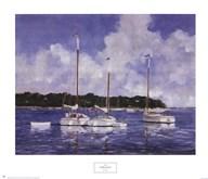 Moored Cat Boats  Fine Art Print
