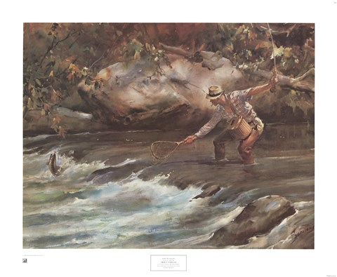 Framed Trout Stream Print