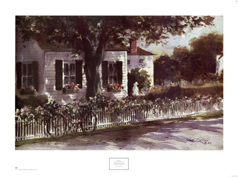 Framed Edgartown Lane Print