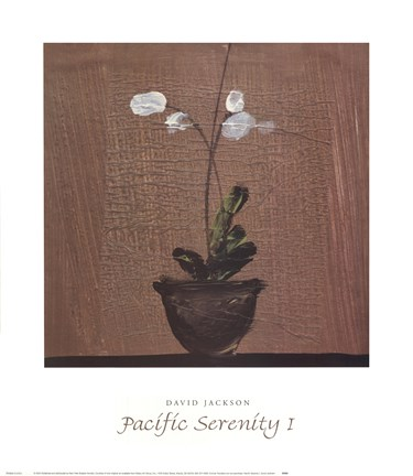 Framed Pacific Serenity I Print