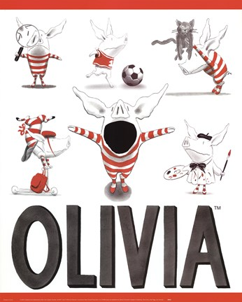 Framed Olivia - Busy Little Piggy Print