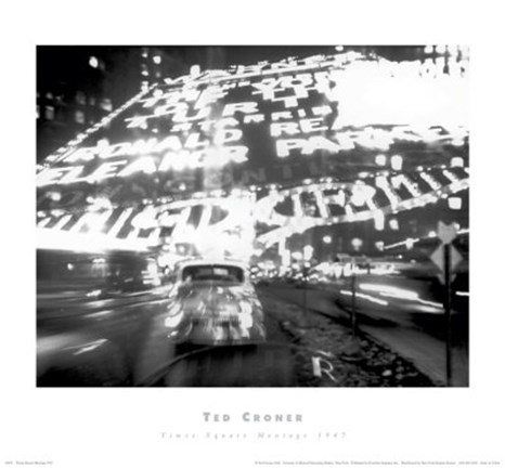 Framed Times Square Montage 1947 (small) Print