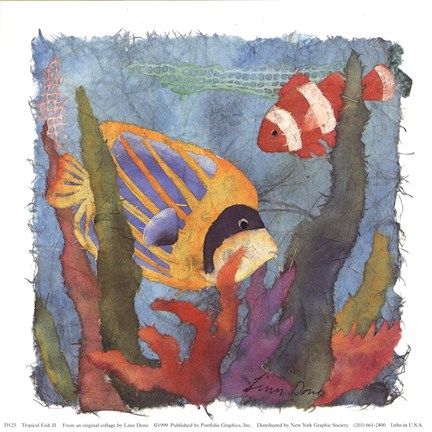 Tropical Fish Ii Fine Art Print By Linn Done At