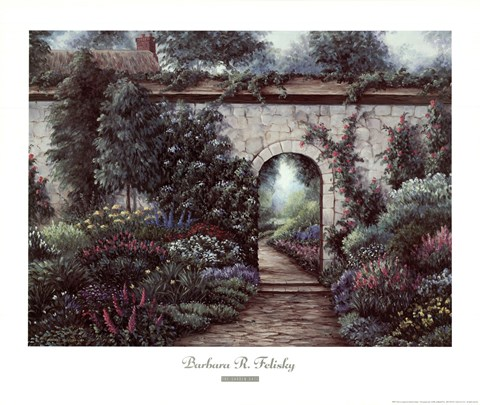 Framed Garden Gate Print