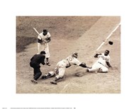 Jackie Robinson Stealing Home, May 18, 1952  Fine Art Print