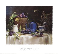 Still Life with Plums  Fine Art Print