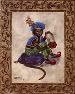 Monkey With Concertina  Fine Art Print