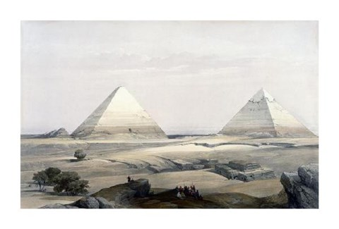 Framed Pyramids of Giza Print