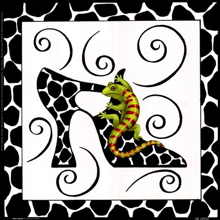 Framed Shoe Gecko Print
