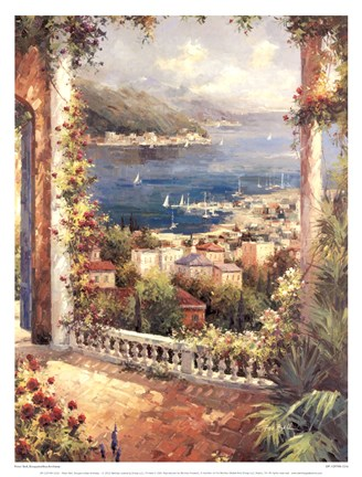 Framed Bougainvillea Archway Print