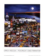 Moonlight Over Manhattan Art