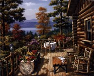 Log Cabin Porch Art