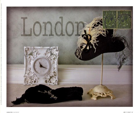Framed London Hat Print
