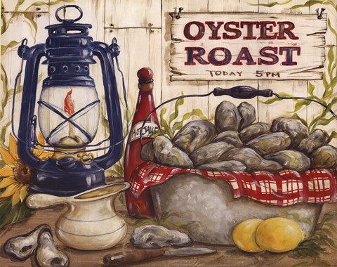 Oyster Roast Fine Art Print By Kate Mcrostie At