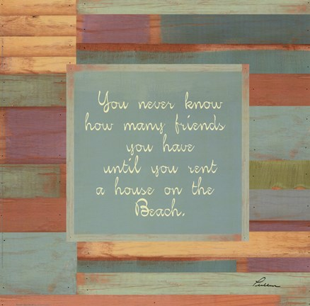 Framed Beaches Quotes III Print