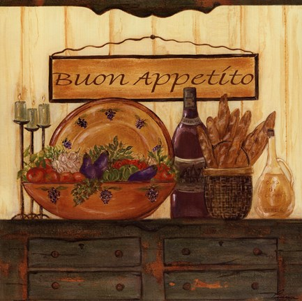 Buon Appetito Fine Art Print By Grace Pullen At