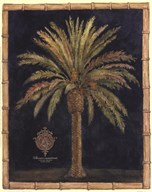 Caribbean Palm I With Bamboo Border Art