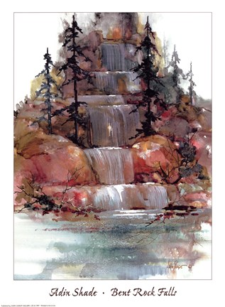 Framed Bent Rock Falls Print