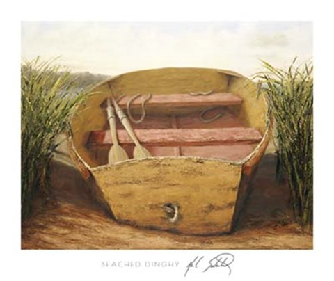 Framed Beached Dinghy Print
