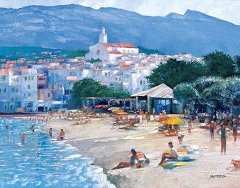 Framed Along The Costa Brava Print