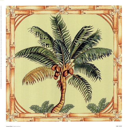 Framed Coconut Palm Print