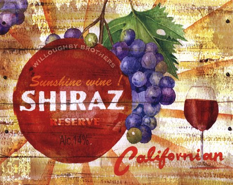 Framed Californian Shiraz Reserve Print