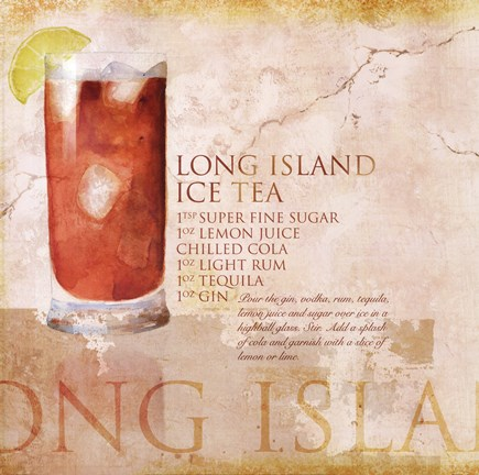 Framed Long Island Ice Tea Print