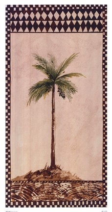 Framed Tribal Palm ll Print