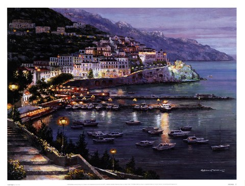 Framed Amalfi Night Print
