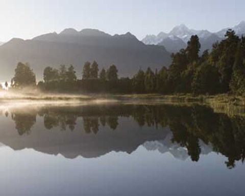 Framed Lake Matheson Print