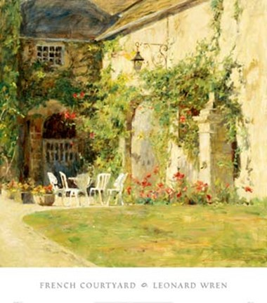 Framed French Courtyard Print