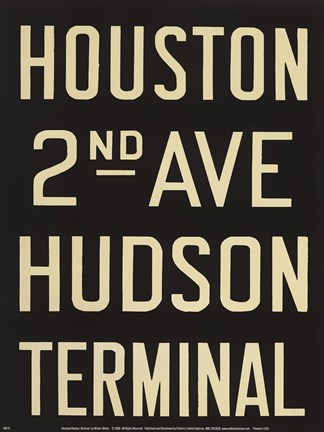 Framed Houston/Hudson Terminal Print