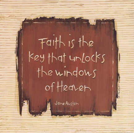 Framed Faith Is The Key Print