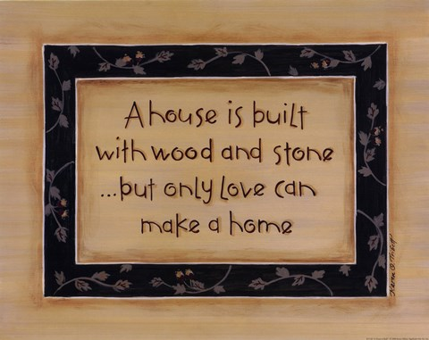 Framed House Is Built Print