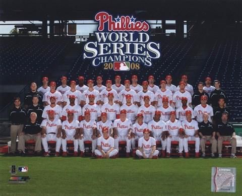 2008 Philadelphia Phillies World Series Champs Team Sit