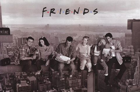 Lunchtime Atop A Skyscraper Cast Of Friends Wall Poster