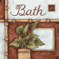 Bath (over a green plant)  Fine Art Print