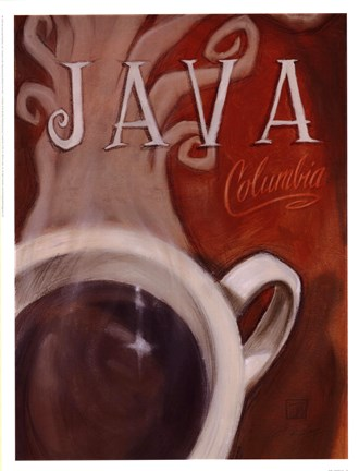 Framed Java Columbia Print