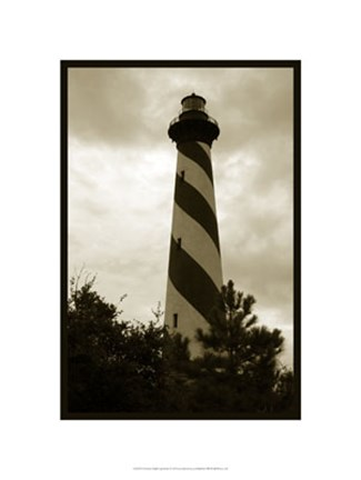 Framed Hatteras Island Lighthouse Print