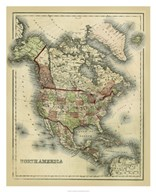Antique Map of North America