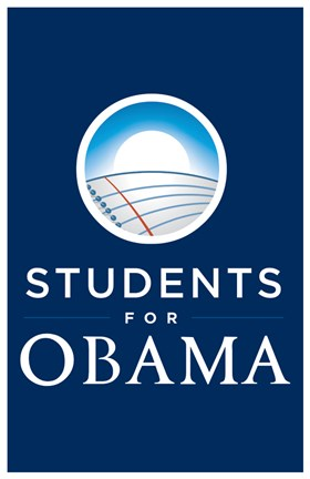 Framed Barack Obama - (Students for Obama) Campaign Poster Print
