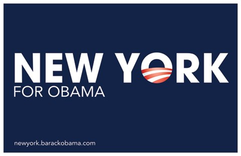 Framed Barack Obama - (New York for Obama) Campaign Poster Print