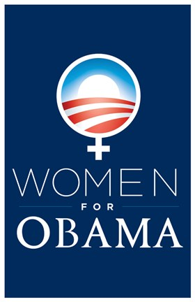 Framed Barack Obama - (Women for Obama) Campaign Poster Print