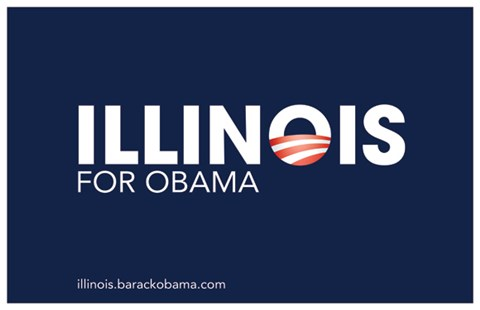 Framed Barack Obama - (Illinois for Obama) Campaign Poster Print