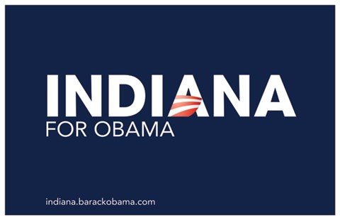 Framed Barack Obama - (Indiana for Obama) Campaign Poster Print